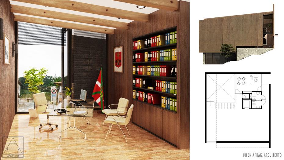 Infografía 3D | Ayuntamiento Gizaburuaga Alcaldía