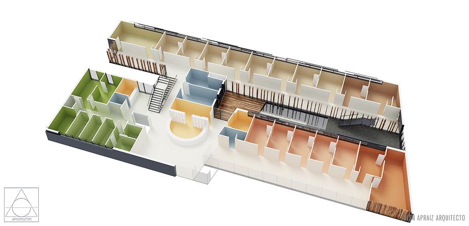 Infografía 3D | Centro Salud Mungia | Vista Aérea