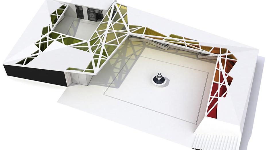 Infografia 3D | Plaza Mercado Abastos Llodio | Vista aérea 1