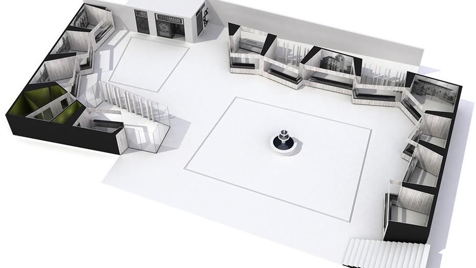 Infografia 3D | Plaza Mercado Abastos Llodio | Vista aérea 2
