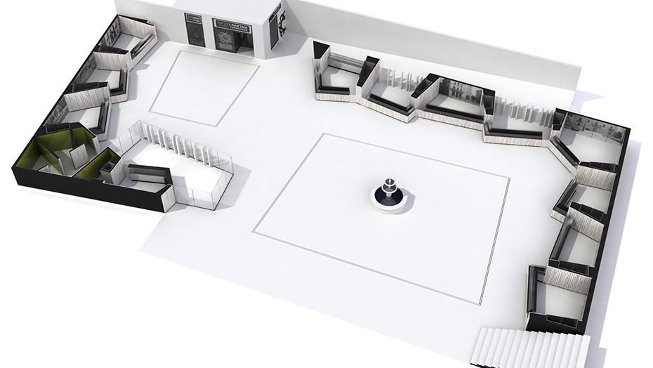 Infografia 3D | Plaza Mercado Abastos Llodio | Vista aérea 3